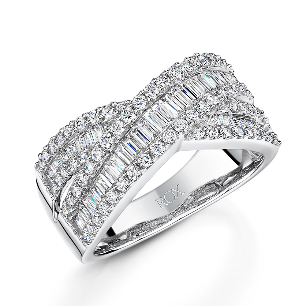 ROX Diamond Dress Twist Ring 1.03cts