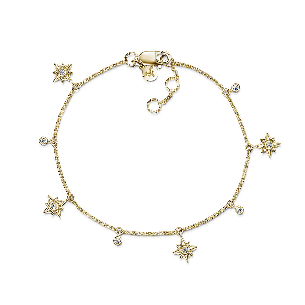 ROX Celestial Gold Vermeil Plated Star and Drop Bracelet