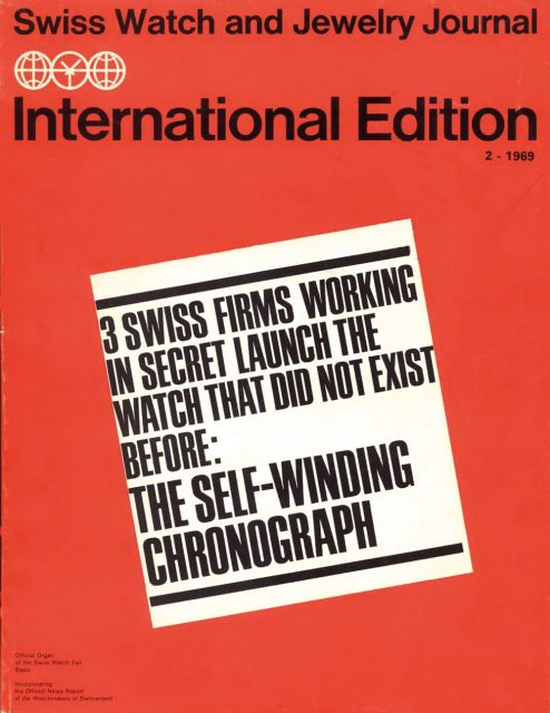 Swiss Journal Announcement