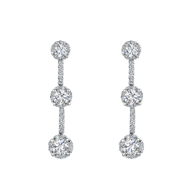 ROX Diamond Drop Earrings 1.00cts