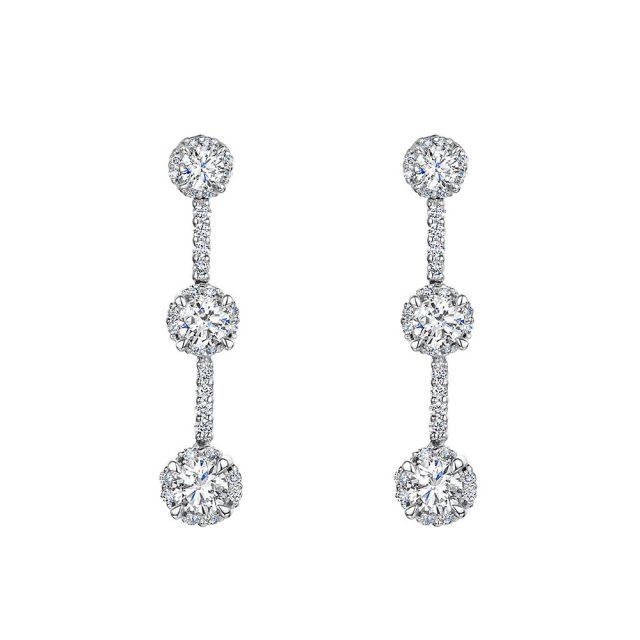 ROX Diamond Drop Earrings 1.00cts