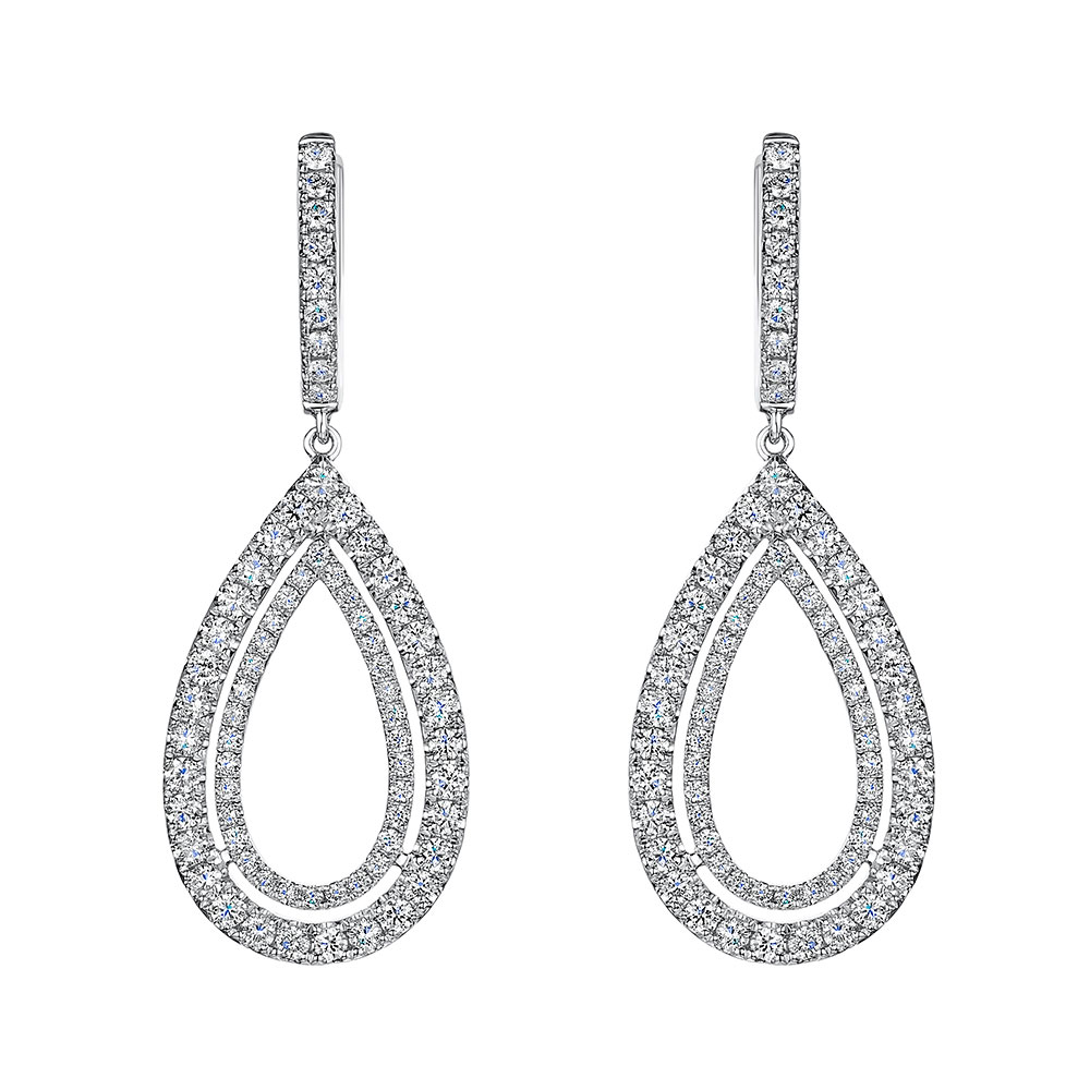 ROX Diamond Drop Earrings 1.65cts