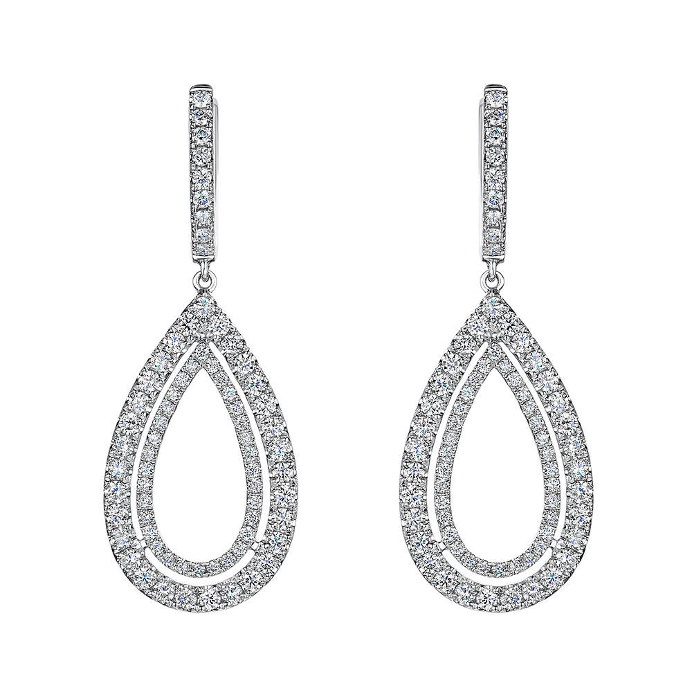 ROX Diamond Drop Earrings 1.65cts