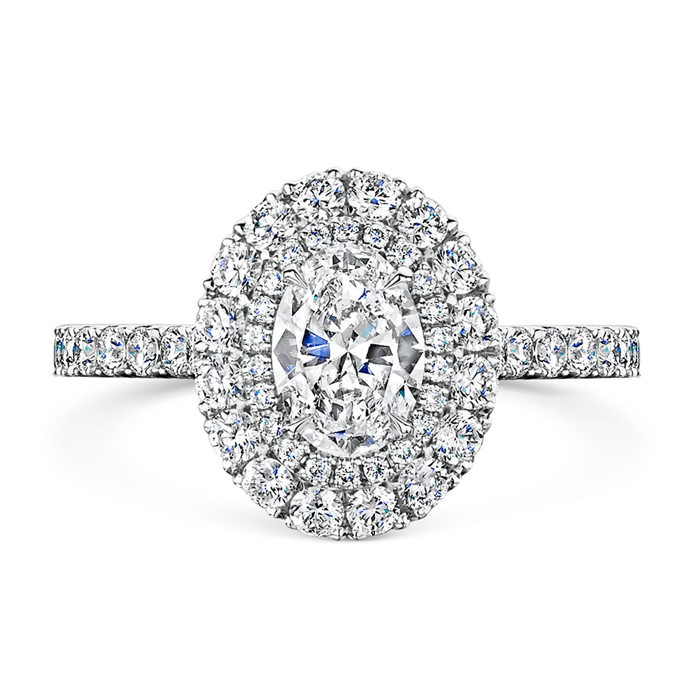 ROX Diamond Double Halo Ring 1.44cts
