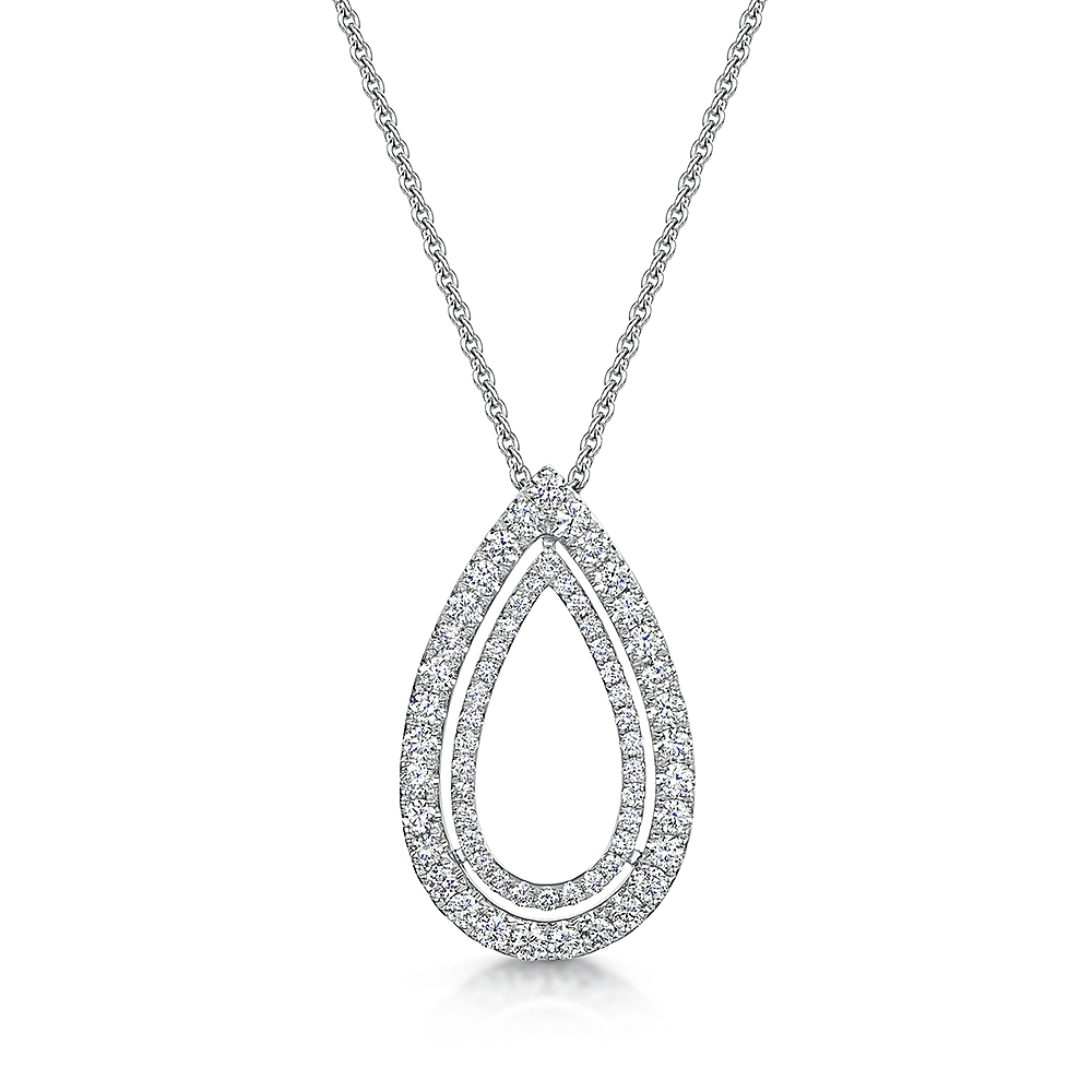 ROX Diamond Drop Necklace 0.69cts
