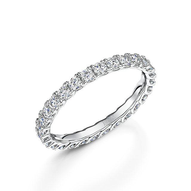 Micro Claw Diamond Full Eternity Ring 1.00cts