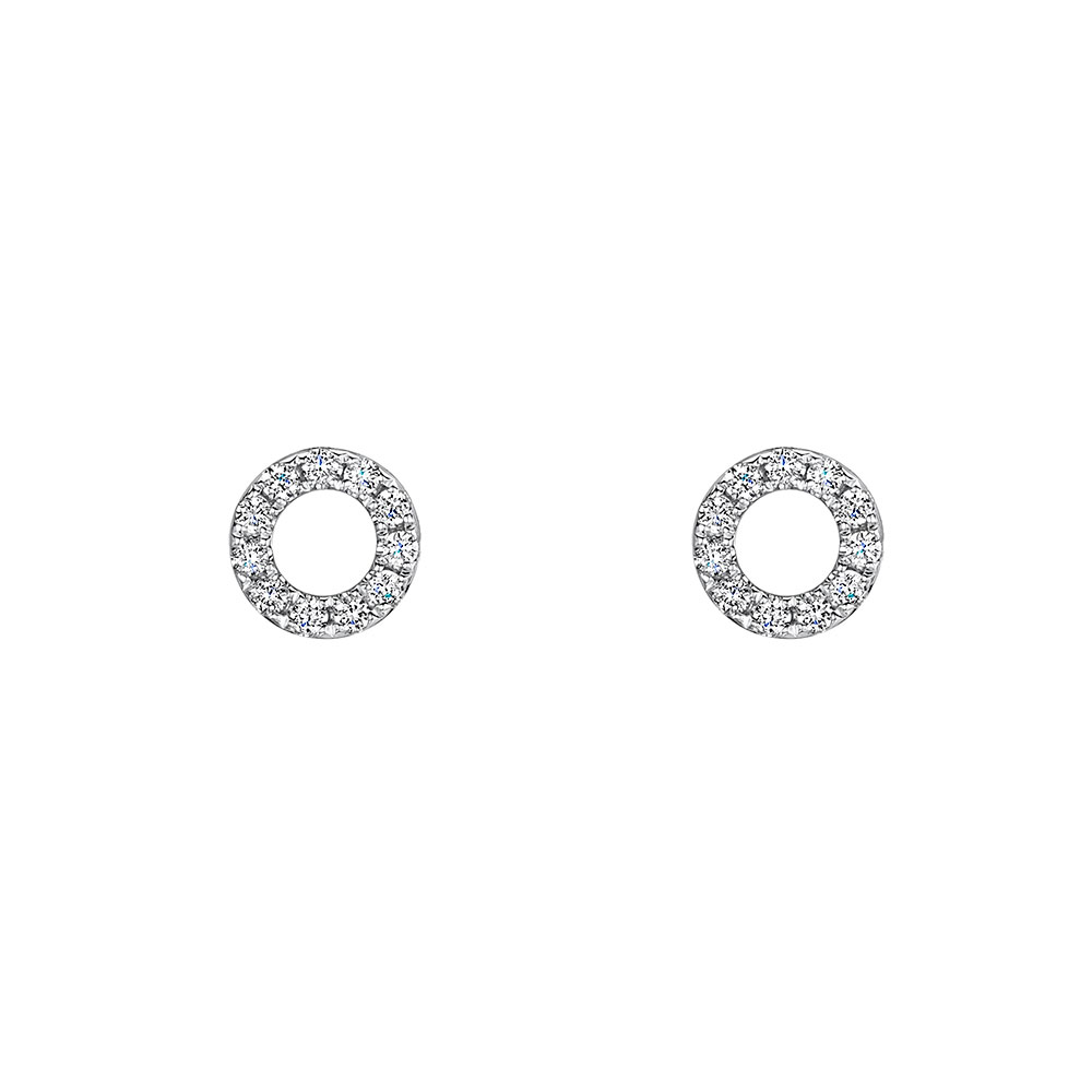 ROX Diamond Circle Earrings 0.38cts