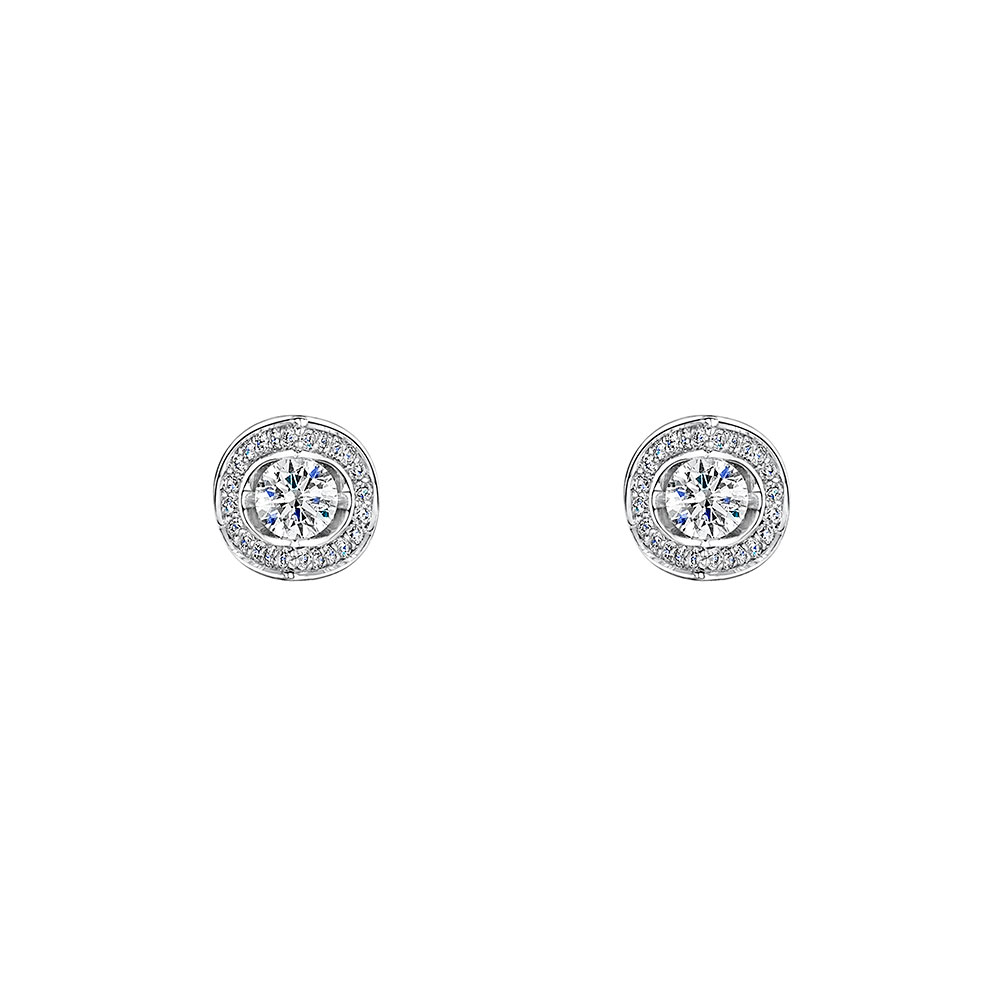 ROX Diamond Tension Set Earrings 0.40cts