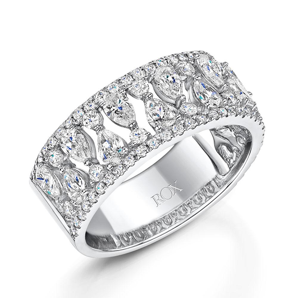 ROX Diamond Pear Drop Dress Ring 1.75cts