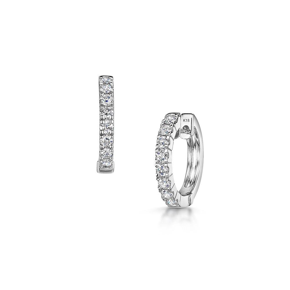 ROX Diamond Hoop Earrings 0.71cts