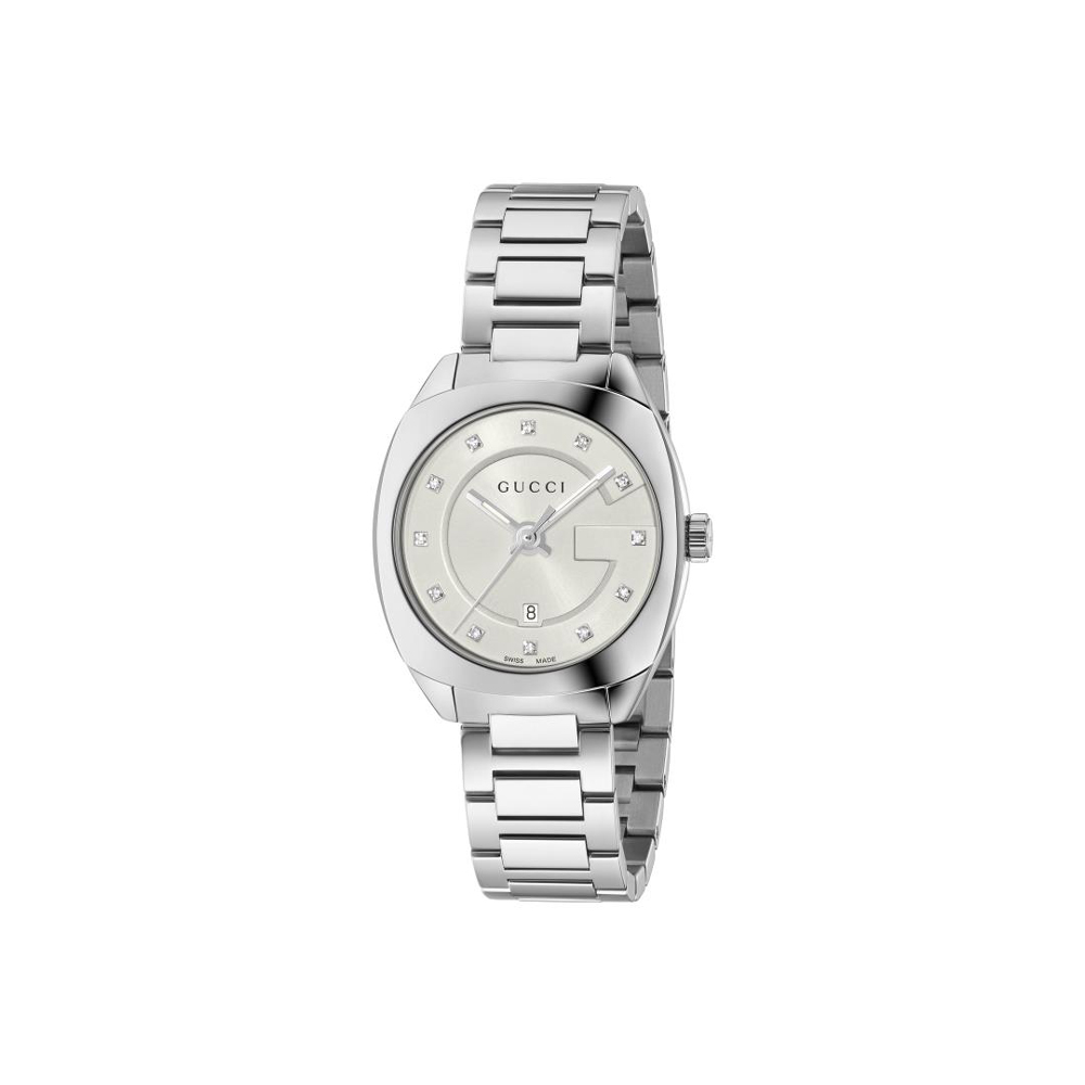 Gucci GG2570 Diamond Set Bracelet Watch YA142504