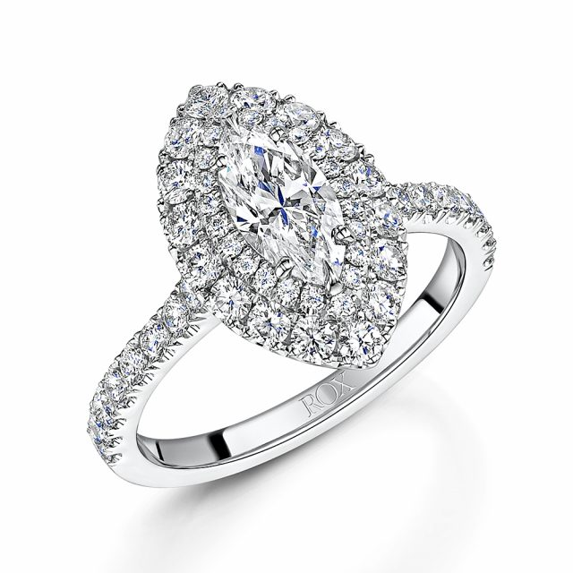 ROX Diamond Double Halo Ring 1.60cts