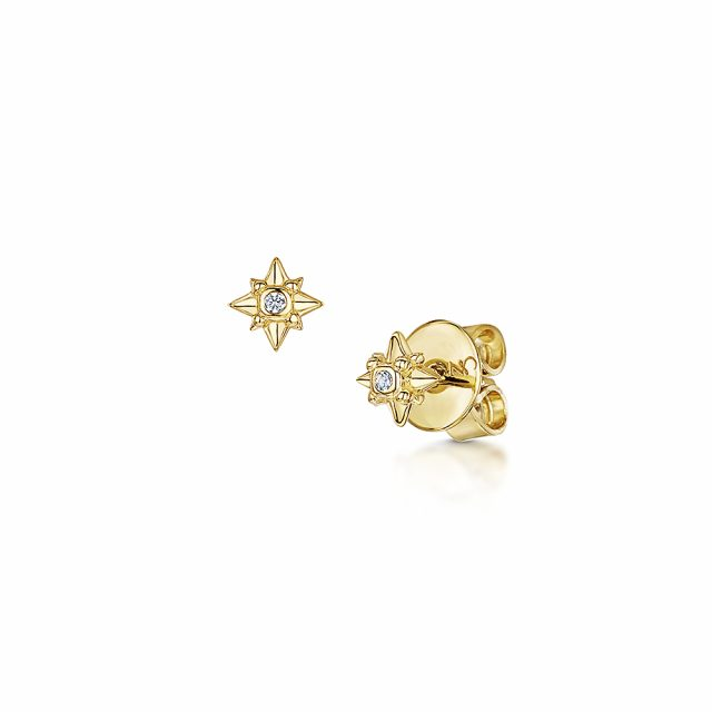 ROX Celestial Gold Vermeil Plated Star Stud Earrings