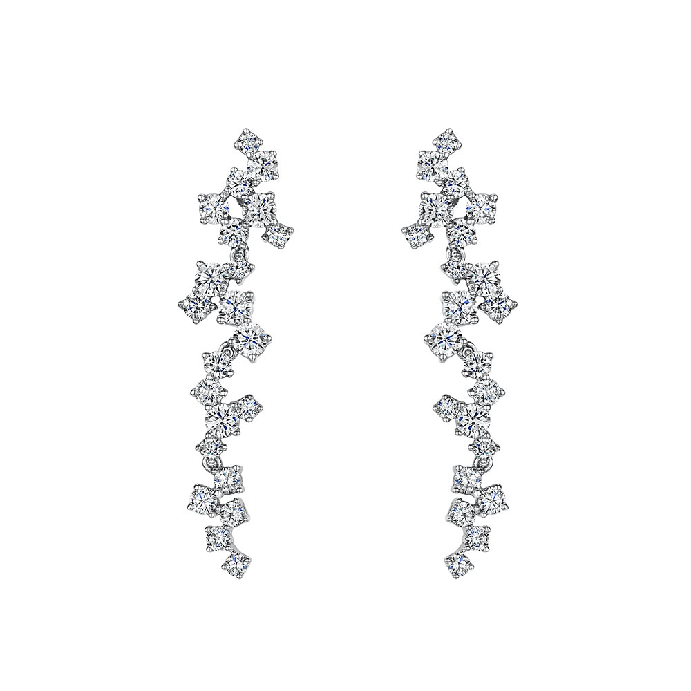 Diamond Drop Earrings 2.08cts