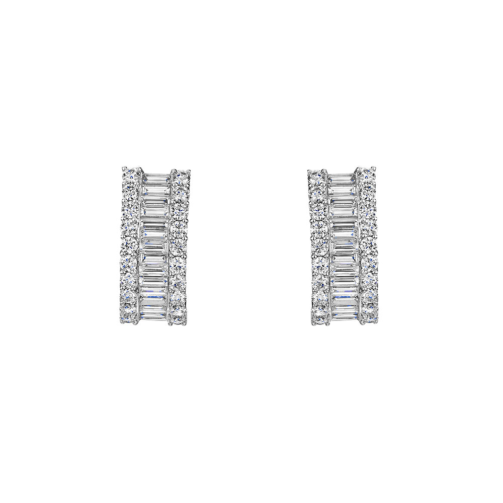 Diamond Hoop Earrings 2.76cts