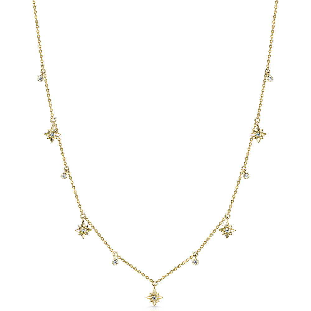 ROX Celestial Gold Vermeil Plated Star and Drop Pendant