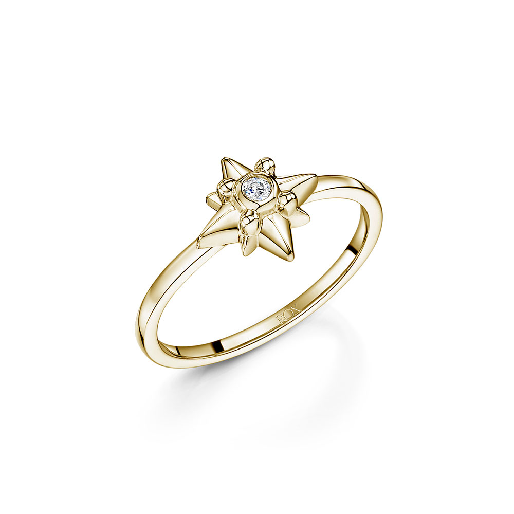 ROX Celestial Gold Vermeil Plated Star Ring