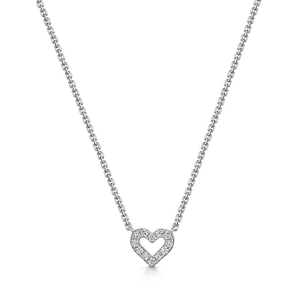 Heart Diamond Necklace 0.12cts
