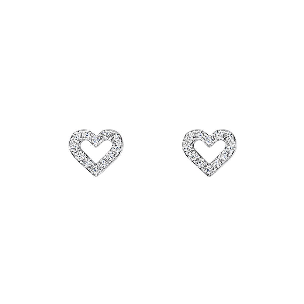Diamond Heart Earrings 0.24cts