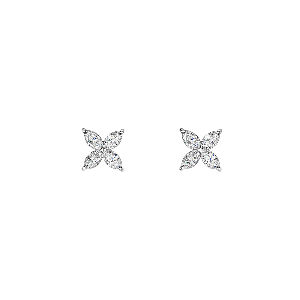 Diamond Petal Earrings 0.75cts