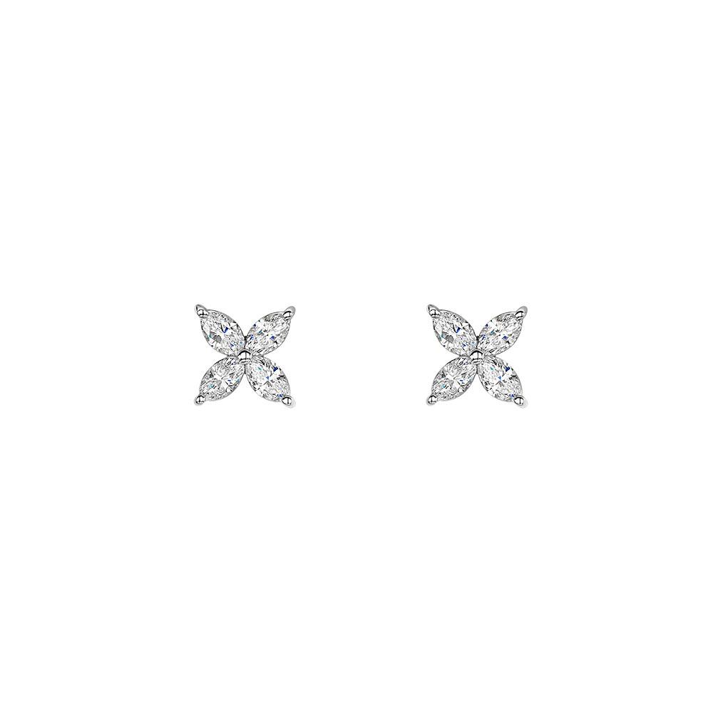 Diamond Petal Earrings 0.75cts