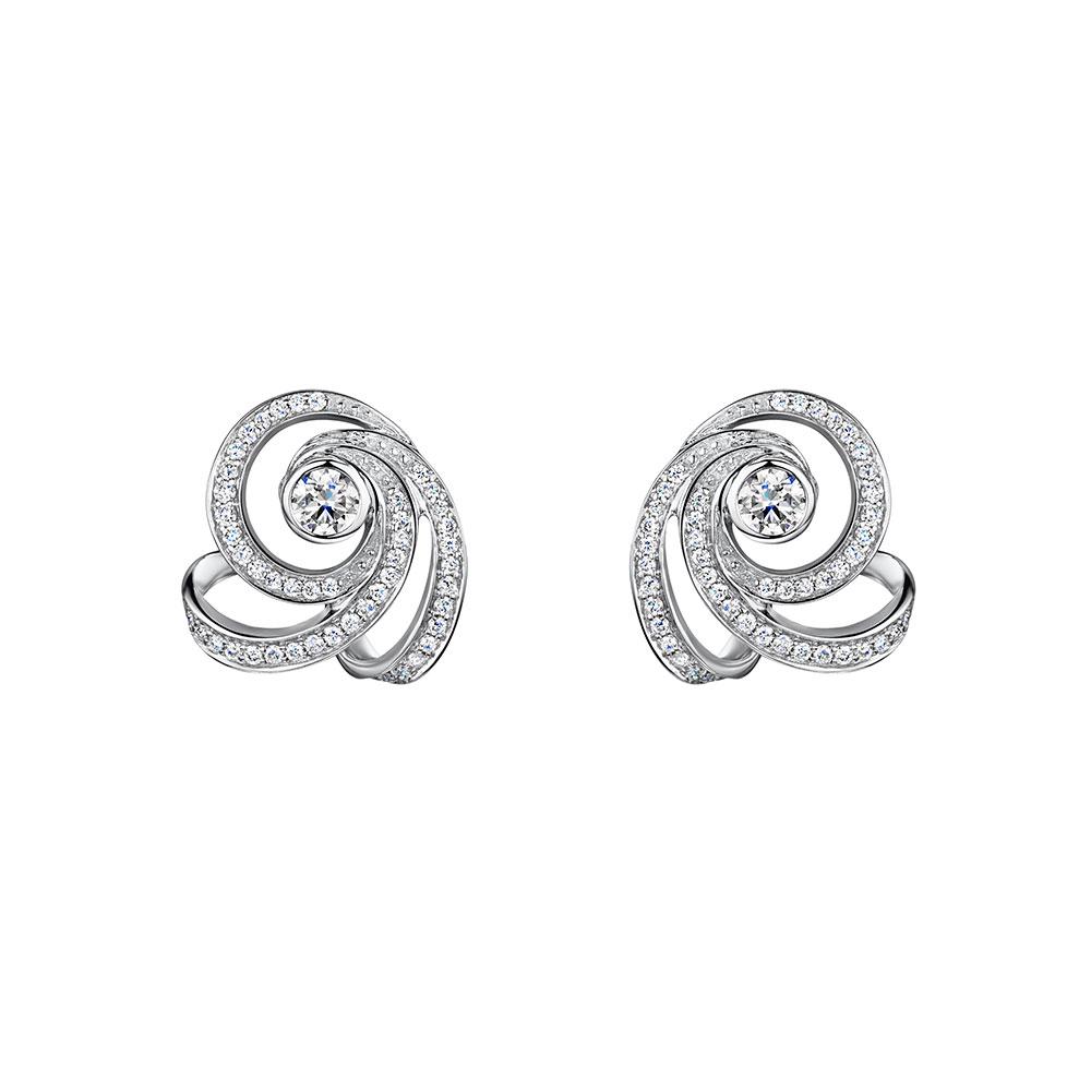 Cosmic Diamond Swirl Earrings 0.60cts