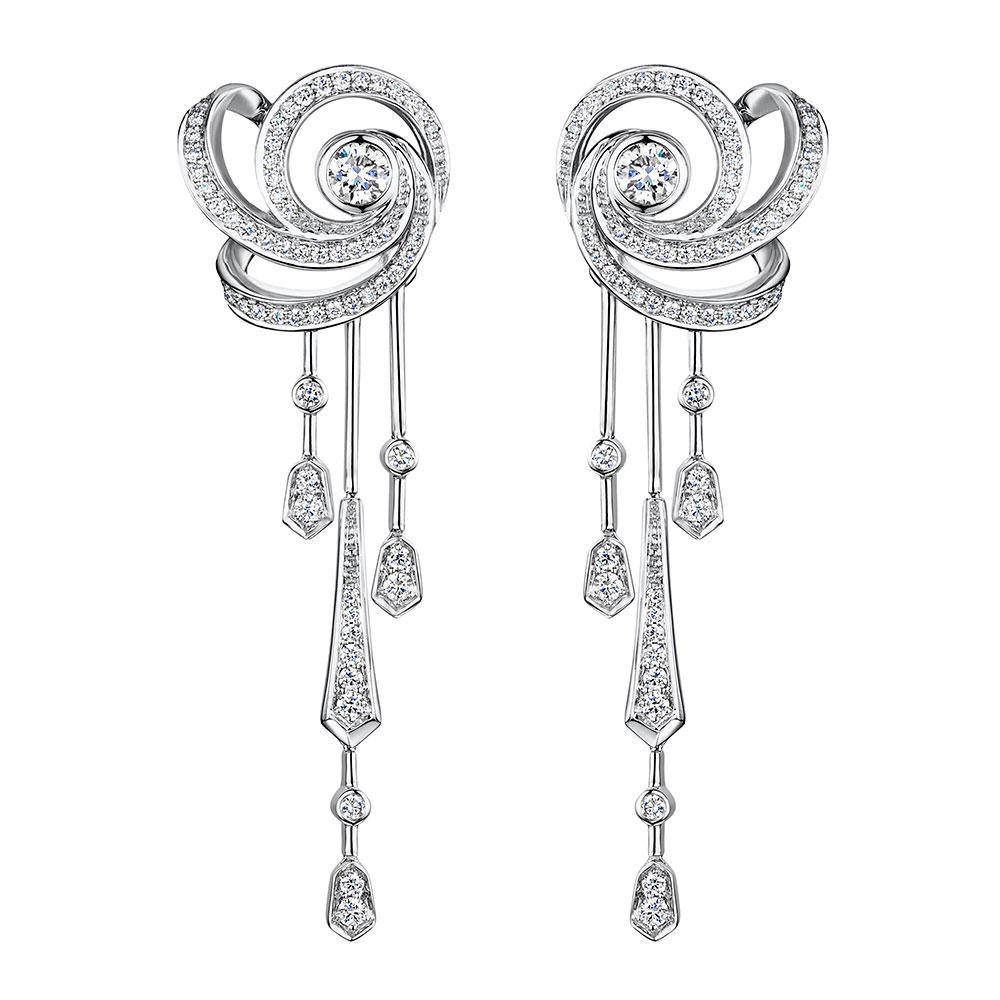 Cosmic Diamond Drop Earrings 0.88cts