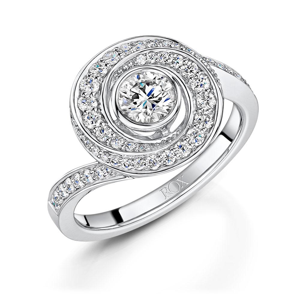 Cosmic Diamond Dress Ring 0.83cts