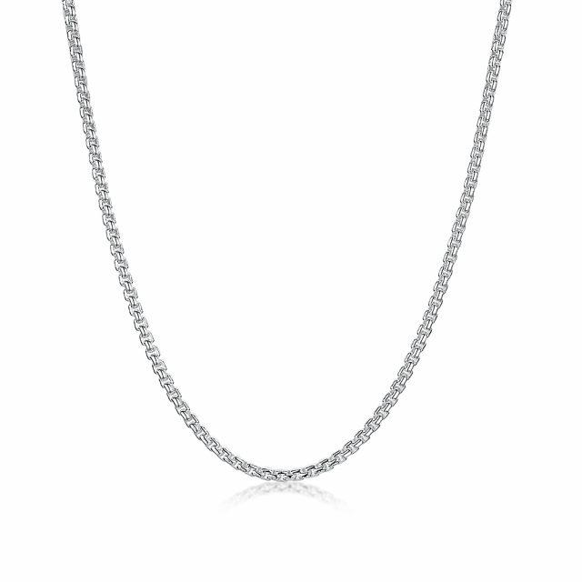 ROX Link Silver Box Belcher Chain 24 inch