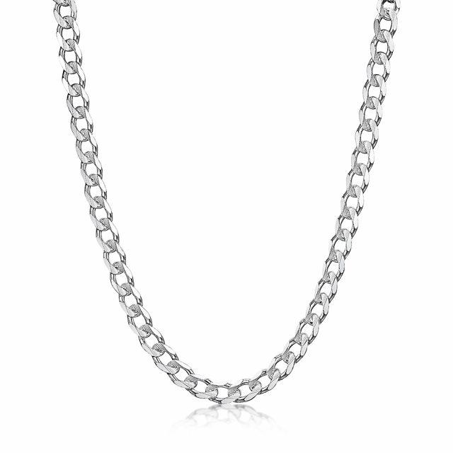 ROX Link Silver Metric Curb Chain 24 inch
