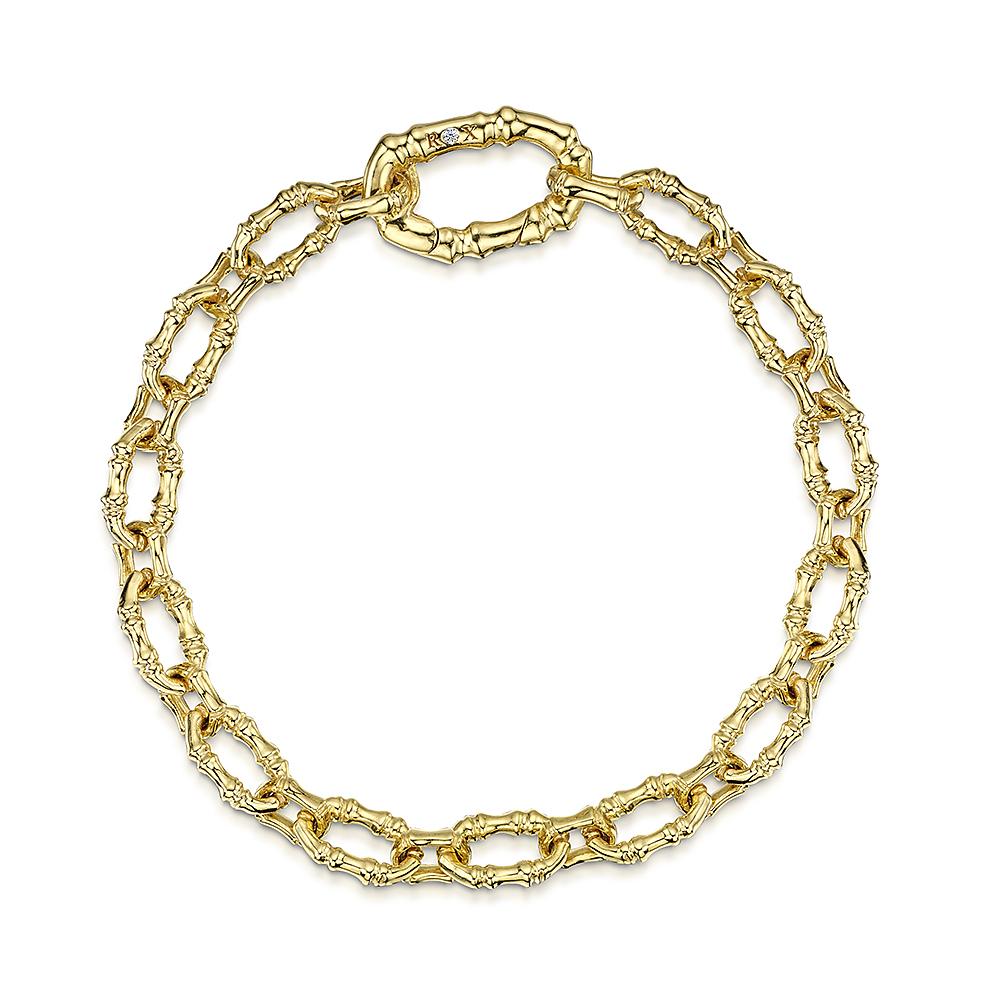 ROX Cane Yellow Oval Link Bracelet