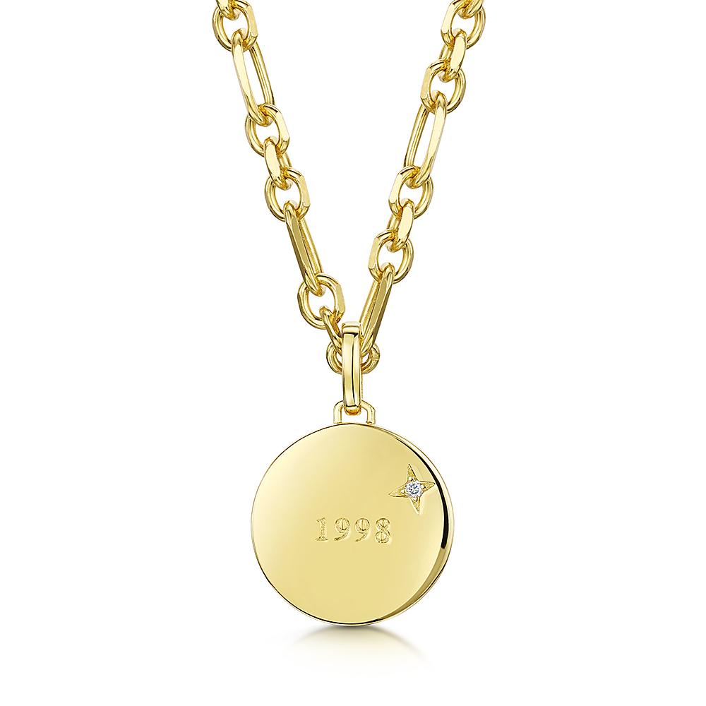 ROX LOX '1998' Diamond Necklace 0.01ct
