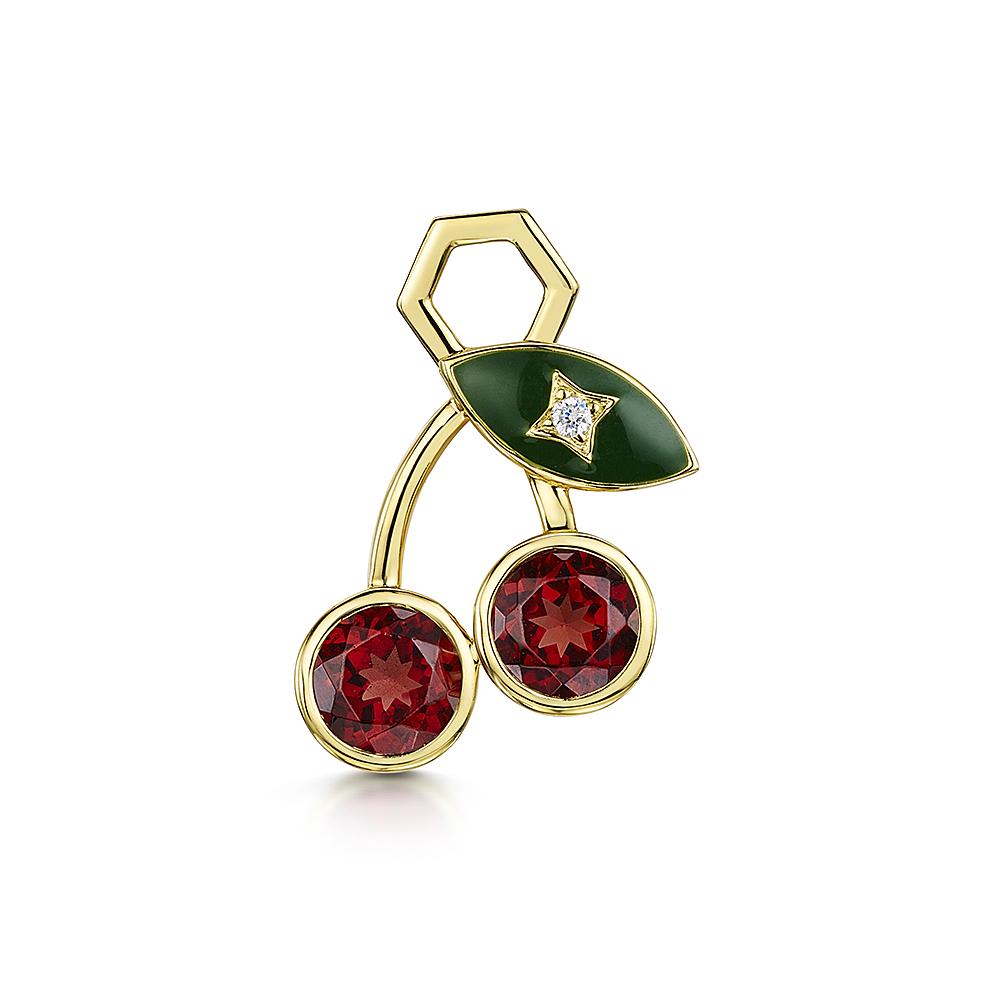 ROX LOX Diamond Garnet Cherry Charm