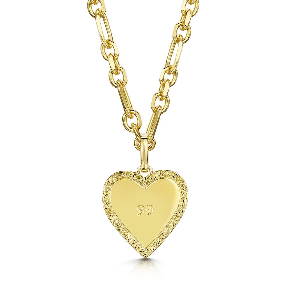 ROX LOX '99' Heart Necklace