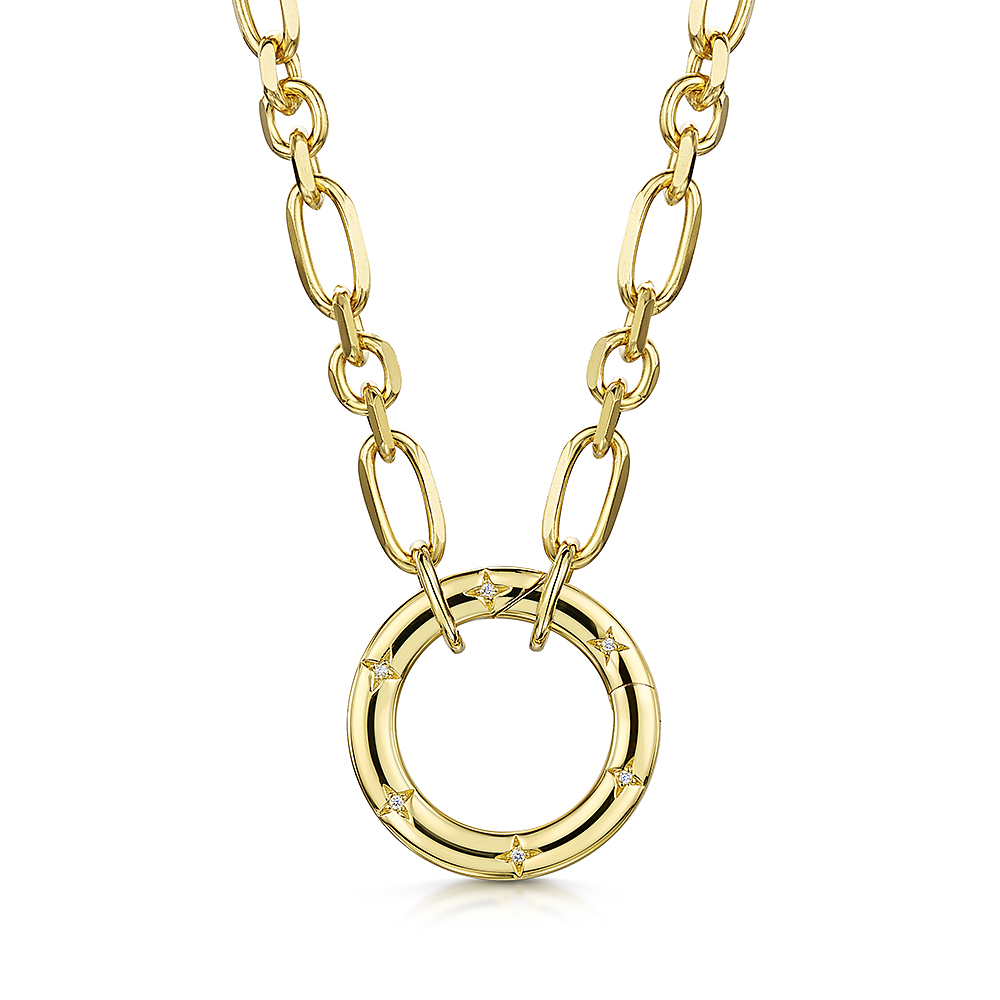 ROX LOX Diamond Circle Necklace 0.02ct