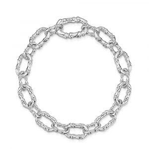 ROX Cane Silver Oval Link Bracelet