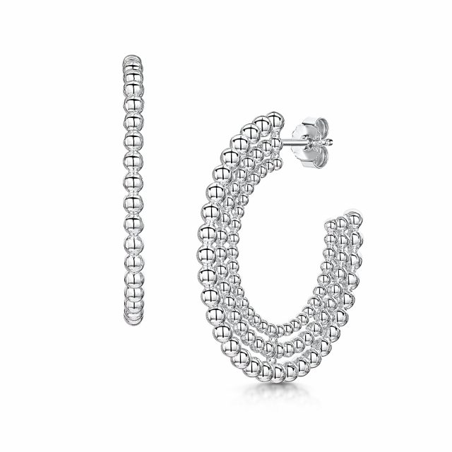 ROX Orbit Multi Row Beaded Hoop Earrings