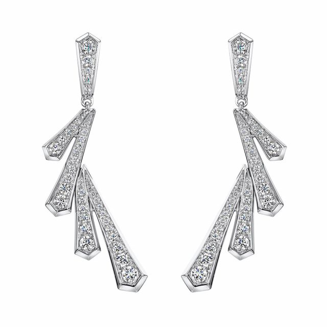 Cosmic Diamond Drop Earrings 0.87cts