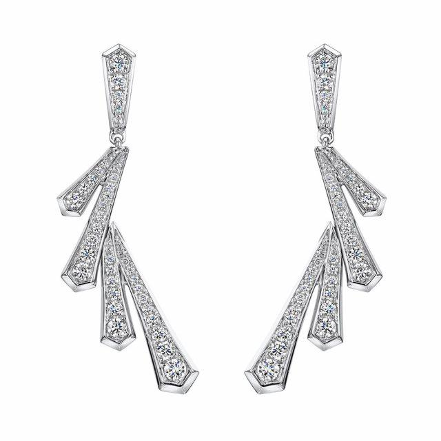 Cosmic Diamond Drop Earrings 0.87cts