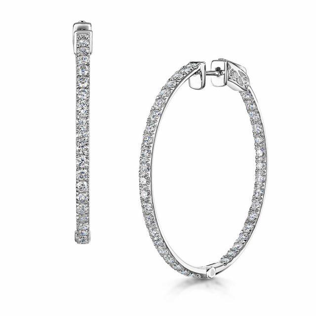 Diamond Hoop Earrings 2.45cts