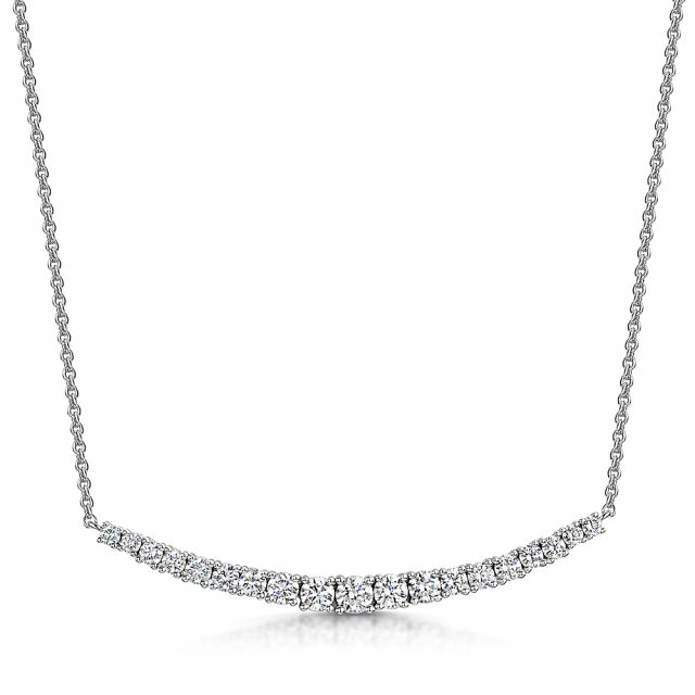 Diamond Line Necklace 1.01cts