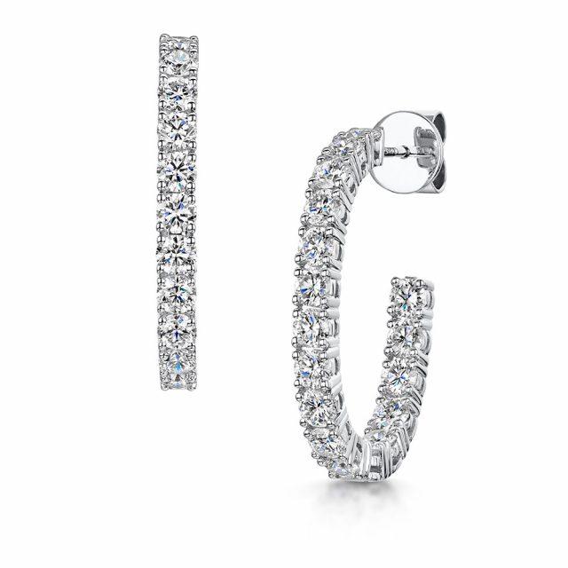 Diamond Hoop Earrings 2.82cts