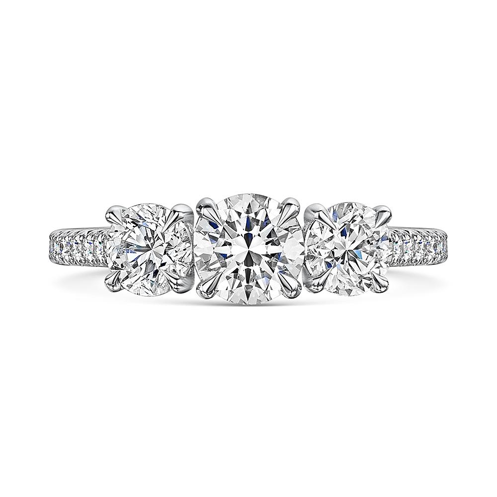 Love Brilliant Diamond Trilogy Ring in Platinum