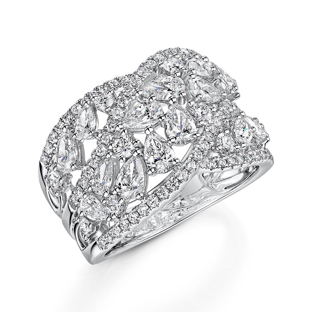 Diamond Pear and Brilliant Dress Ring 2.49ct