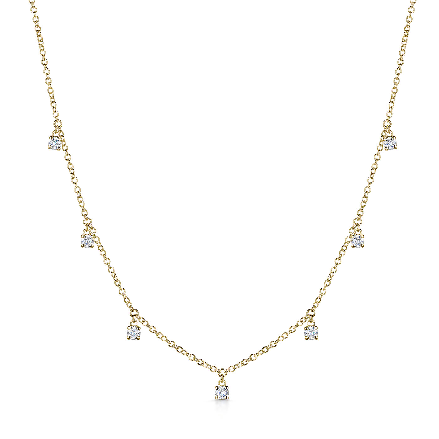 Diamond Droplet Necklace 0.50cts