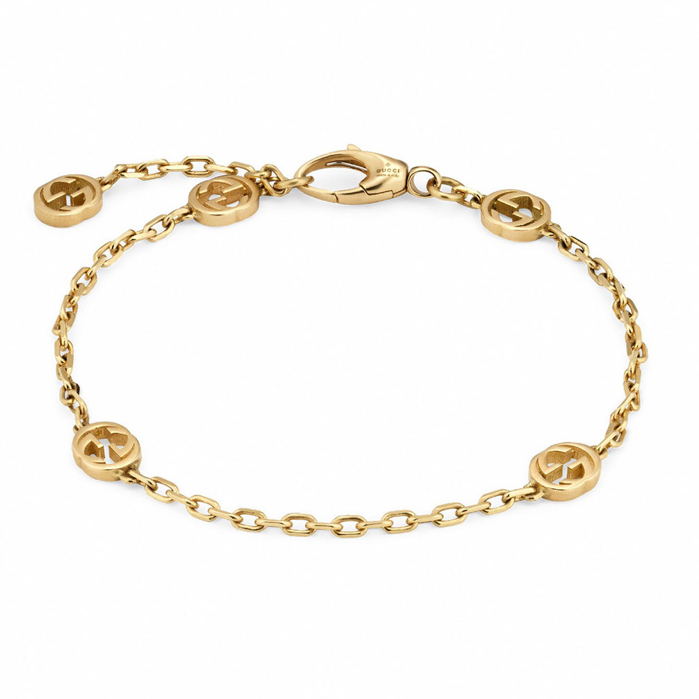 Gucci Interlocking G Yellow Gold Bracelet