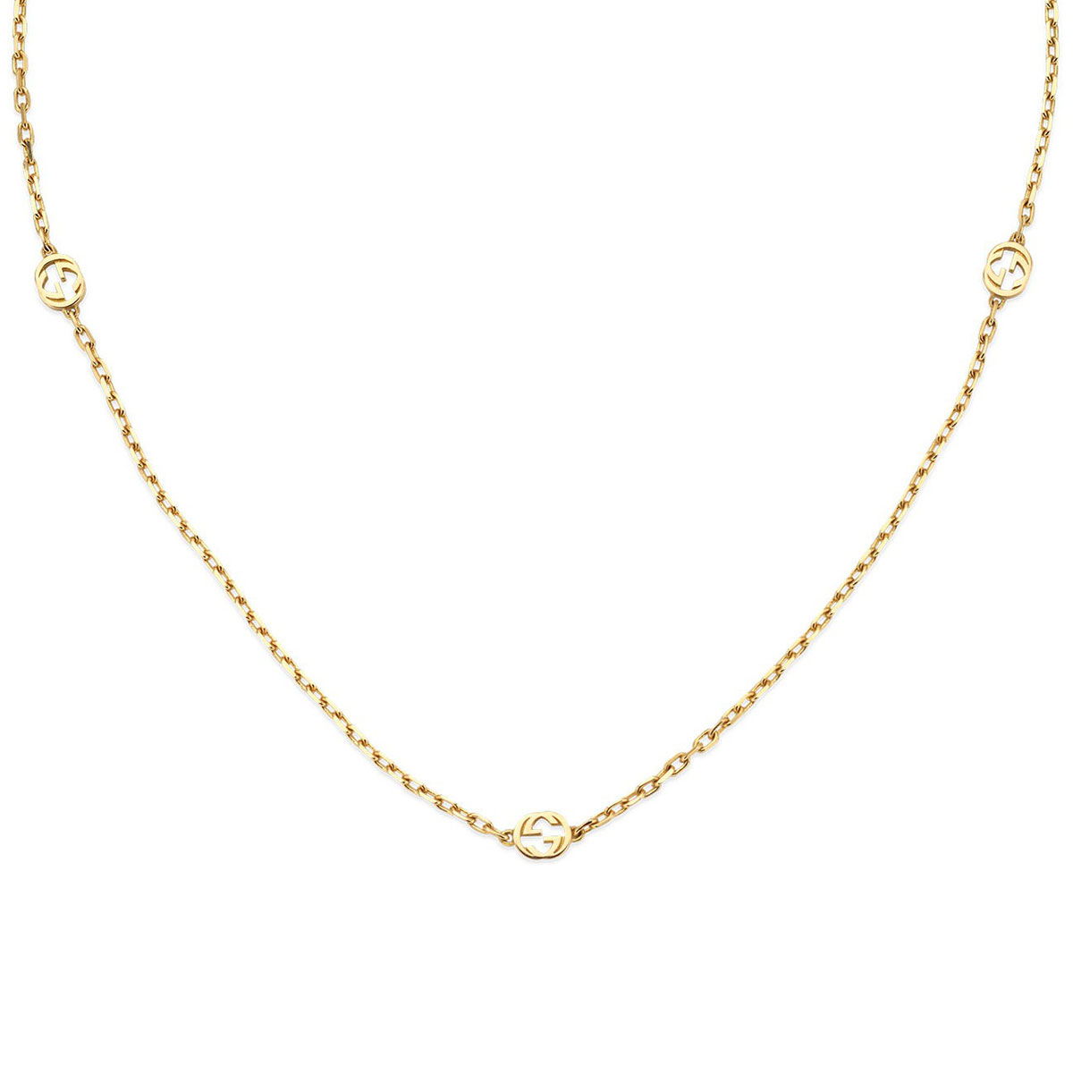 Gucci Interlocking G Yellow Gold Necklace
