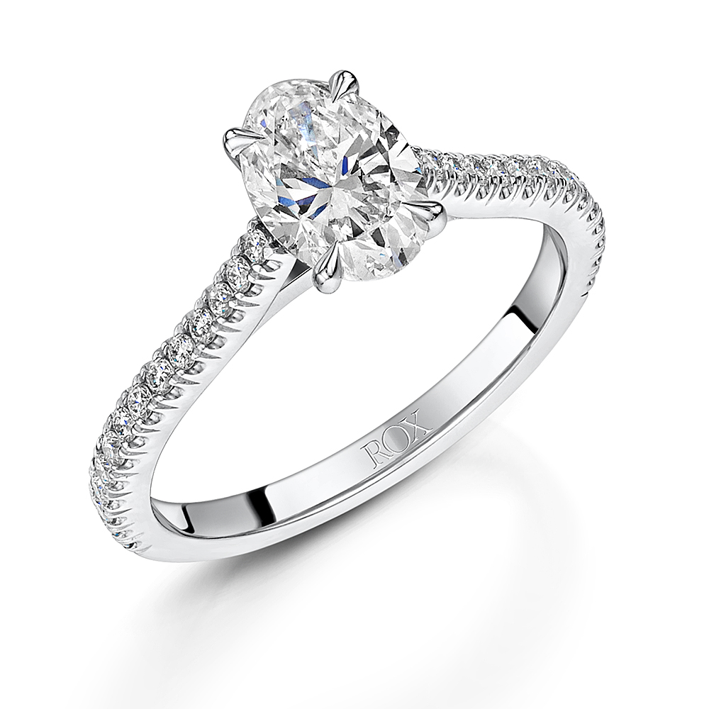 Love Oval Cut Diamond Ring in Platinum