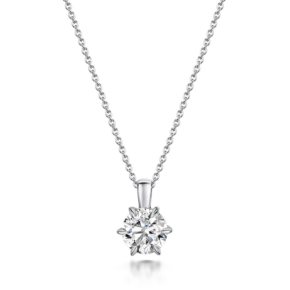 ROX Honour Diamond Necklace in Platinum