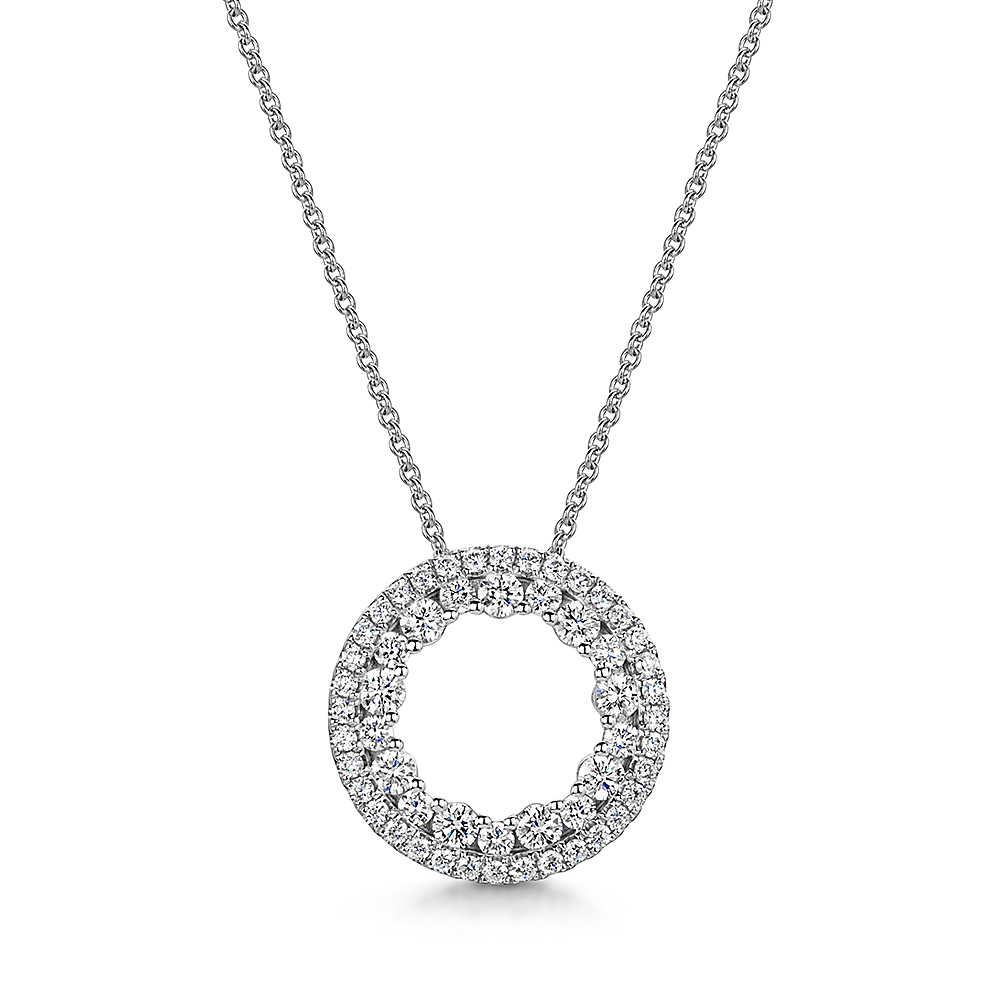 Diamond Circle Necklace 0.56ct